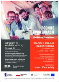 Warsztaty z Funduszami Europejskimi - 09.10.2019 , Stadion Cracovii